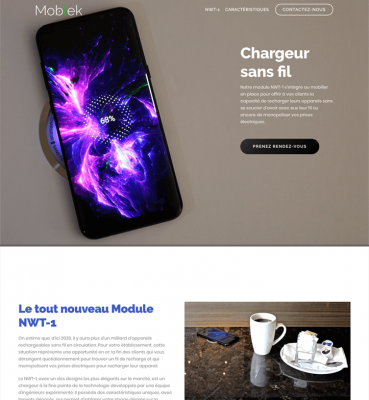 Site WordPress pour Moblek Inc