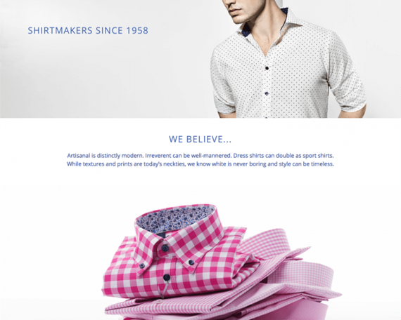 Boutique Shopify pour Lipson Shirtmakers